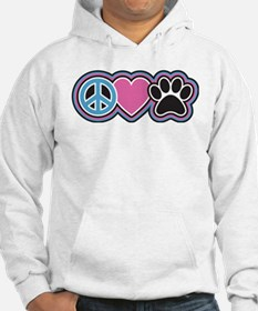 Peace Love Paws Jumper Hoody