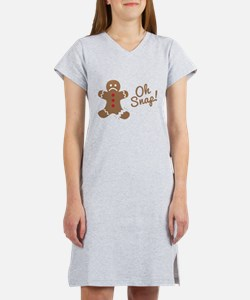Oh Snap Gingerbread Man Women's Nightshirt