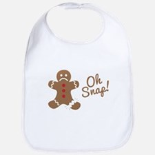 Oh Snap Gingerbread Man Bib