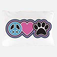 Peace Love Paws Pillow Case