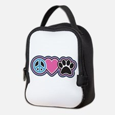 Peace Love Paws Neoprene Lunch Bag