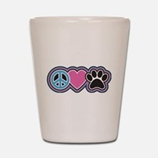 Peace Love Paws Shot Glass
