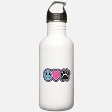 Peace Love Paws Water Bottle
