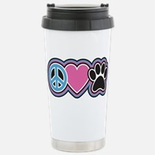 Peace Love Paws Stainless Steel Travel Mug