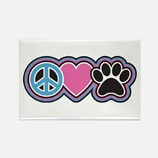 Peace Love Paws Magnets