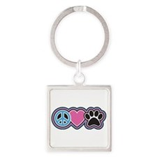 Peace Love Paws Keychains