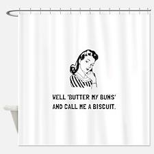 Butter My Buns Shower Curtain