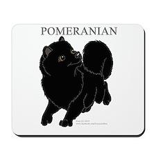 Black Pomeranian Mousepad