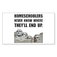 Homeschool Rushmore Decal