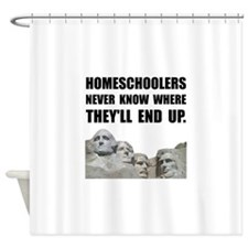 Homeschool Rushmore Shower Curtain