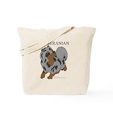 Blue Merle Pomeranian Tote Bag
