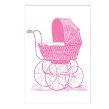 Pink Baby Carriage Postcards (Package of 8)