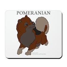 Red/Orange Pomeranian Mousepad