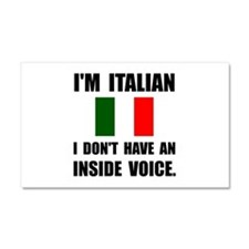 Italian Inside Voice Car Magnet 20 x 12