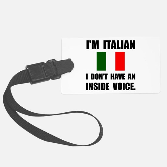 Italian Inside Voice Luggage Tag