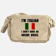 Italian Inside Voice Messenger Bag