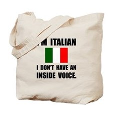 Italian Inside Voice Tote Bag