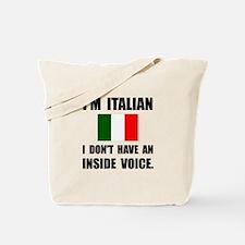 Italian Inside Voice Tote Bag