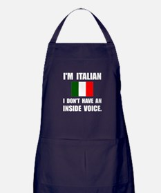 Italian Inside Voice Apron (dark)