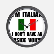 Italian Inside Voice Wall Clock
