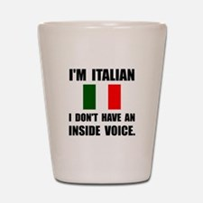 Italian Inside Voice Shot Glass