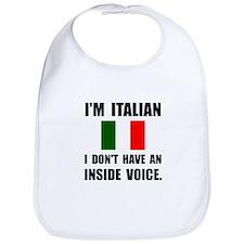 Italian Inside Voice Bib