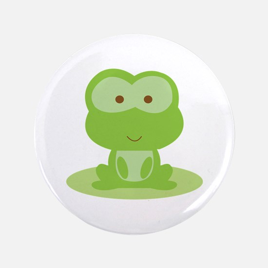 """Green Frog 3.5"""" Button"""