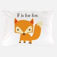 F Is For Fox Pillow Case