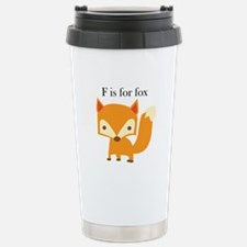 F Is For Fox Travel Mug