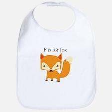 F Is For Fox Bib