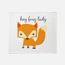 Foxy Lady Throw Blanket