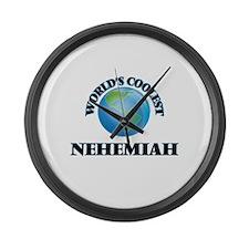 World's Coolest Nehemiah Large Wall Clock