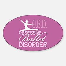 Ballet Pink Sticker (Oval)