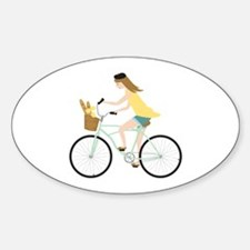 Paris Bicycle Girl Decal