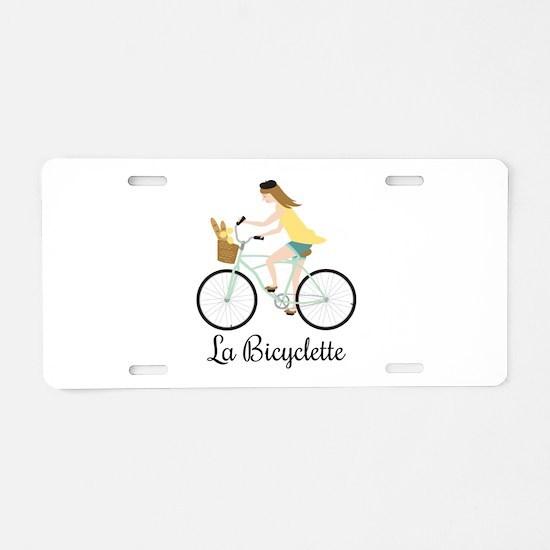 La Bicyclette Aluminum License Plate