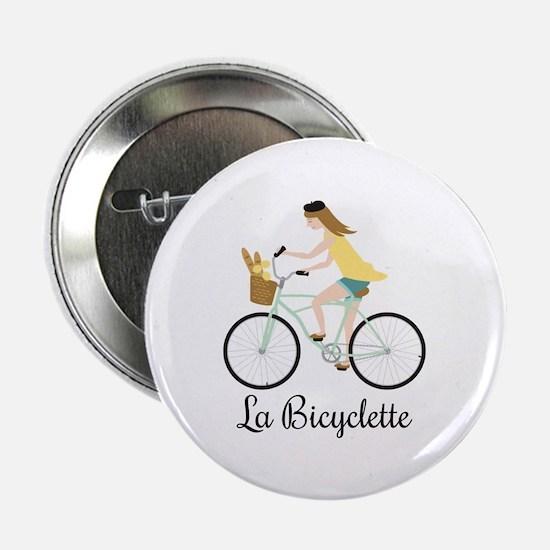 """La Bicyclette 2.25"""" Button (10 pack)"""
