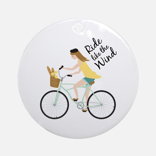 Ride Like The Wind Ornament (Round)
