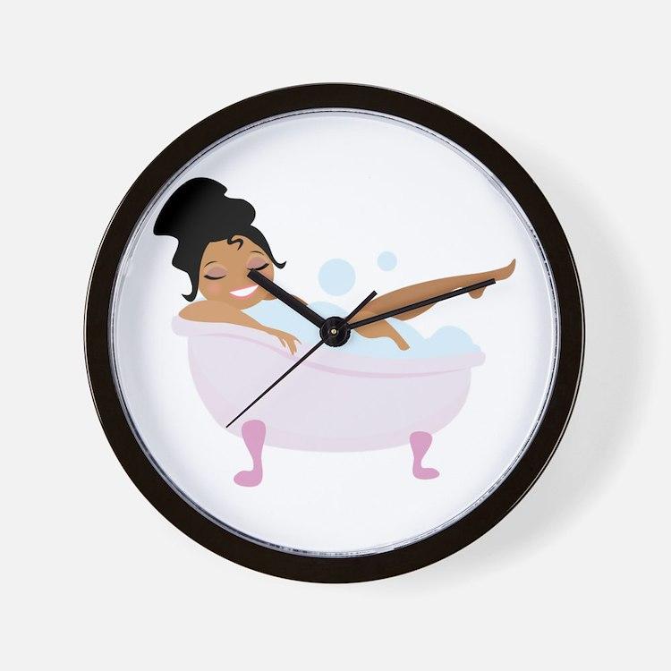 Ladys Bubble Bath Wall Clock