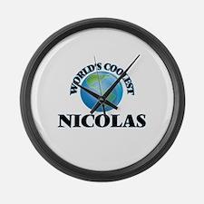 World's Coolest Nicolas Large Wall Clock