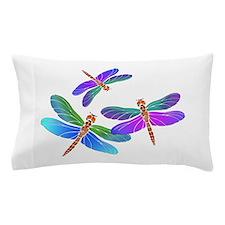 Dive Bombing Iridescent Dragonflies Pillow Case