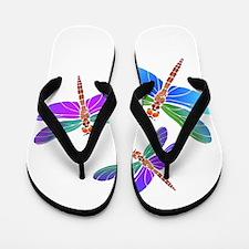 Dive Bombing Iridescent Dragonflies Flip Flops
