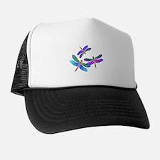 Dive Bombing Iridescent Dragonflies Trucker Hat