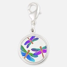 Dive Bombing Iridescent Dragonflies Charms