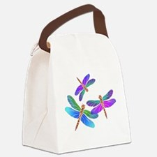 Dive Bombing Iridescent Dragonfli Canvas Lunch Bag