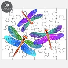 Dive Bombing Iridescent Dragonflies Puzzle