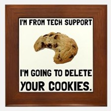 Tech Support Cookies Framed Tile