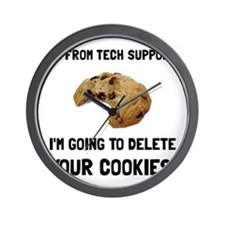 Tech Support Cookies Wall Clock
