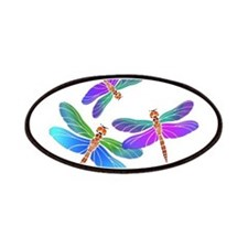 Dive Bombing Iridescent Dragonflies Patches