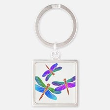Dive Bombing Iridescent Dragonflies Keychains