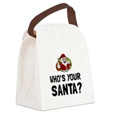 Who Is Your Santa Canvas Lunch Bag